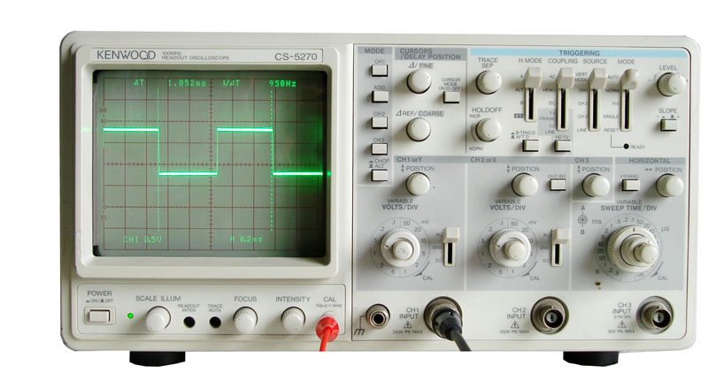 Kenwood Cs 5270 100mhz Readout Oscilloscope